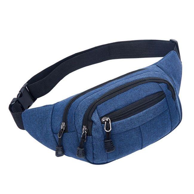 Factory direct sports waist bag wholesale custom logo men and women fashion mobile phone waist bag outdoor waterproof slant across chest bag