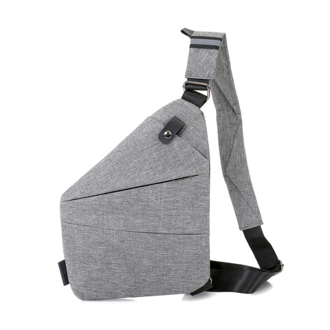 Fashion casual Gun Bag men's messenger bag storage simple chest bag fashion fit Oxford cloth chest bag wholesale
