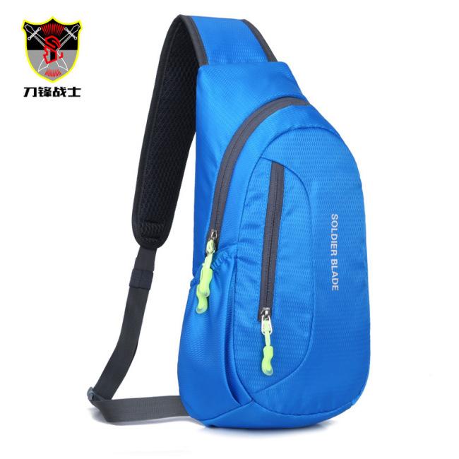 Multi functional waterproof men's chest bag outdoor riding Single Shoulder Messenger Bag customized outdoor sports leisure bag wholesale