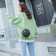 Embroidered shoulder bag women's bag 2020 new classic Lingge chain round bag mini mobile phone messenger small square bag gift
