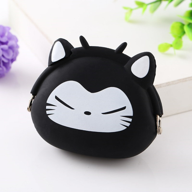 Manufacturer wholesale new silicone bag silicone wallet cartoon silicone bag storage wallet customization
