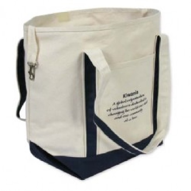 Cotton Shopping Bag With Zipper