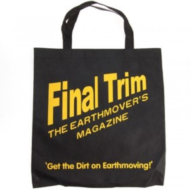 Black nonwoven shopping bag