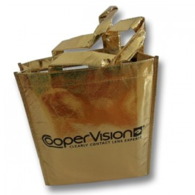 Golden laminated non-woven shopping bag