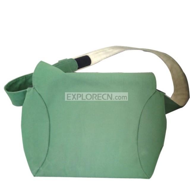 Green single shoulder bag