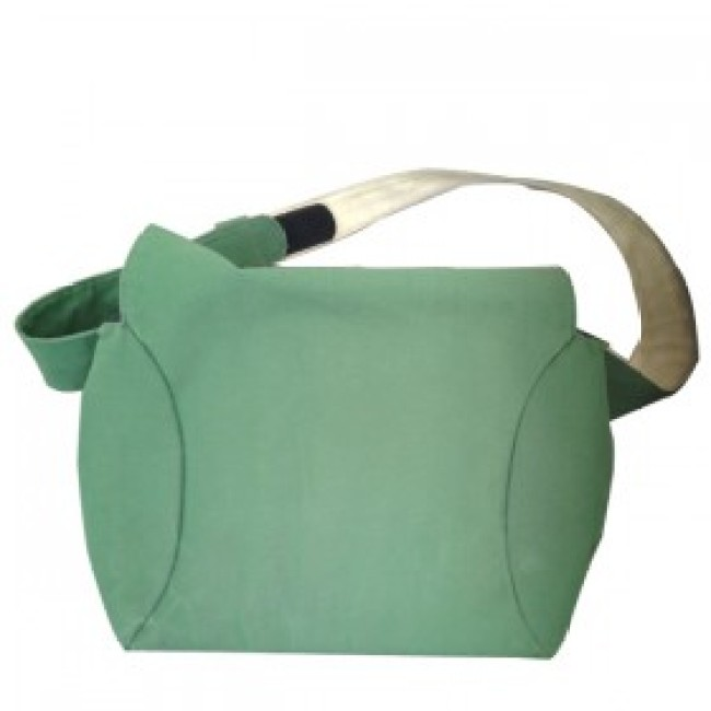 Green single shoulder bag