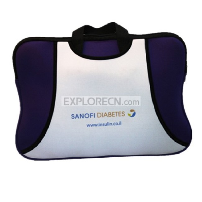 Neoprene laptop bag with beautiful shape