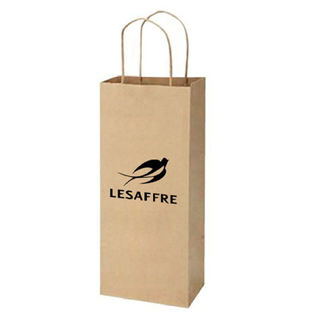 Kraft Paper Twisted Handles Wine Bags
