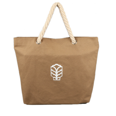 Yellow Color Canvas Bag With Rope Handle