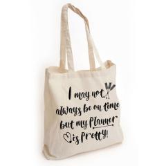 New design cheap canvas shopping bag