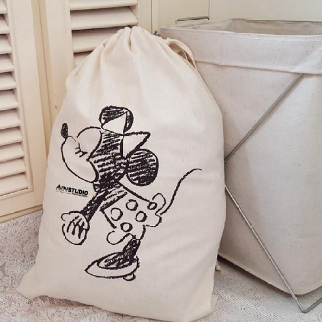 Cartoon Printing Laundry Storage Drawstring Bag