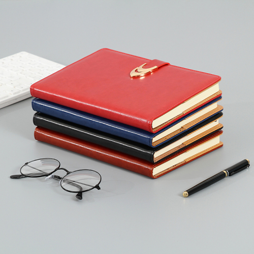 2019 Business Custom Logo Printed Debossed Soft PU Leather Notebook