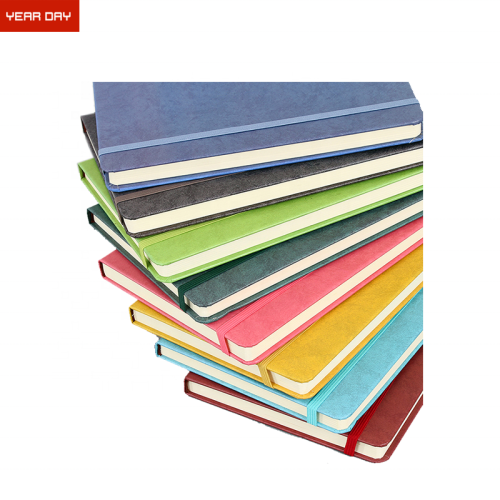 2019 Cheap Business Custom Logo Printed Composition Notebook PU Leather Notebook
