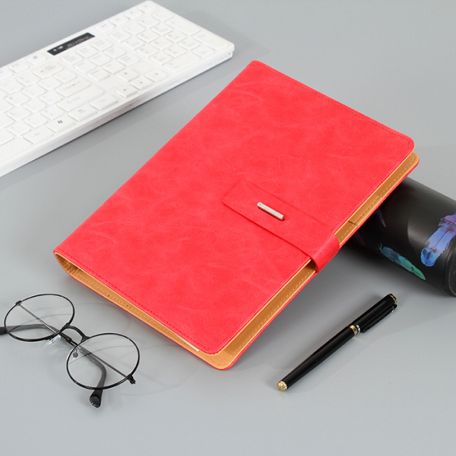 2019  Colorful Business Custom Logo Soft PU Leather Notebook