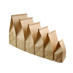 2019 customized friendly Kraft paper bag for bread packing with high quality food grade bag