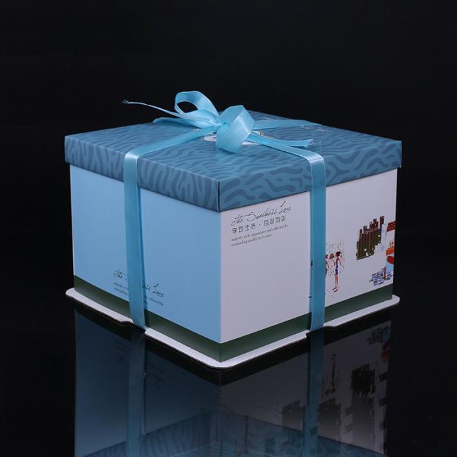 Custom Size Food Grade Cardboard Round Tall Cake Box
