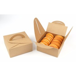 Wholesale Brown Kraft Paper Food Grade Cake Box With Your Own Logo