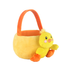 soft  plush duck basket toy for 2020 easter festival