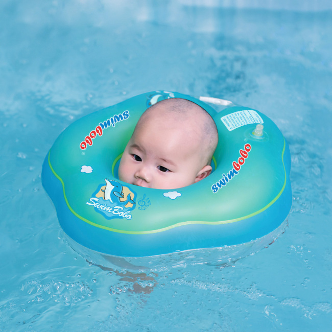 Baby Bath Swimming Neck Float Inflatable. Adjustable Safety Aids Baby Swimming Neck Ring for 0-12 Month For Kids