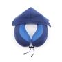 Custom U shape Memory Foam  Hoodie Travel Pillow Protect Your Neck Airplane Sleep Pillow