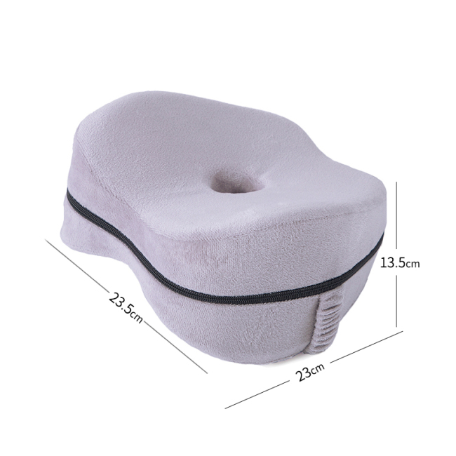Ergonomic Design   Apple Shape Memory Foam Leg  Knee Pillow For Good Sleep In Bed