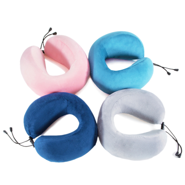 Memory Foam U Shaped Travel Pillow Neck Support Head Rest Cushion