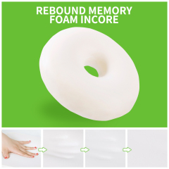 New Design  Polyurethane Memory Foam Donut Seat Cushion For Hemorrhoids