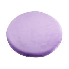 Plush Fabric Soft   Polyurethane Memory Foam Stuffed Round  Wheelchair Seat Cushion