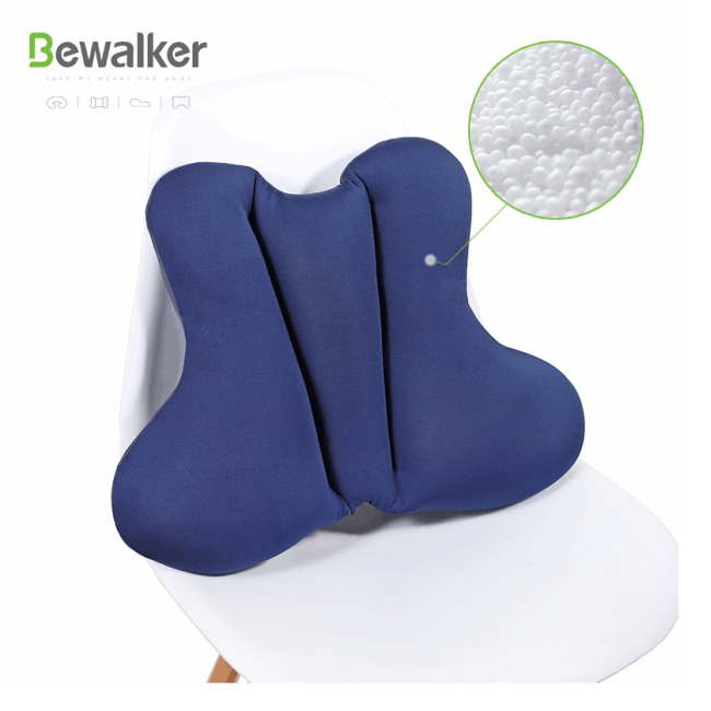 Soft Office  Chair  Lumbar Pressure Release 100% Polystyrene Bead Back Lumbar Cushion  Pillow