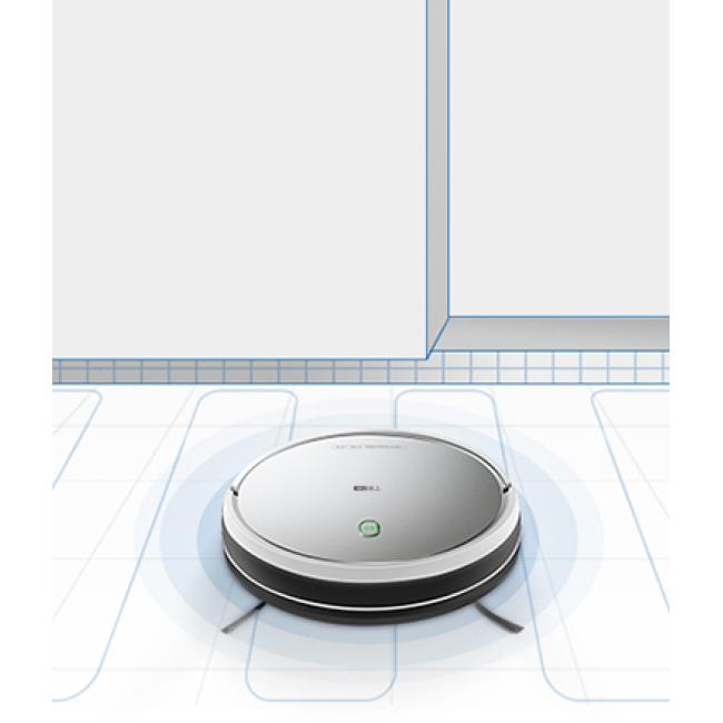 Čiščenje s čistilno napravo Haier TAB Smart Robot T510S z elektronskim rezervoarjem za vodo