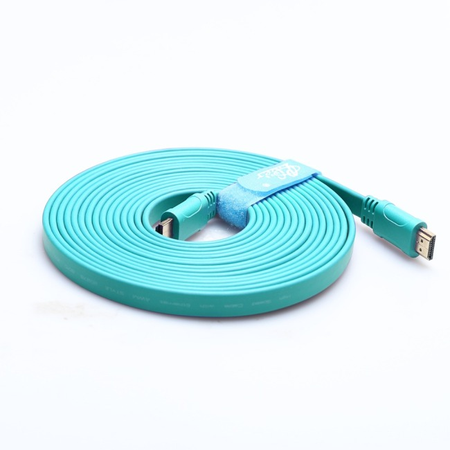 Flat HDMI Cable 1.4 2.0V oxygen-free copper 4K*2K 3D image HDMI cord Ultra HD Cable 3840*2160 4K 60hz 30hz gold-plated tip PCER