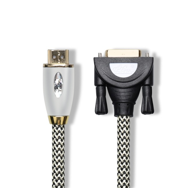 Nylon Braided HDMI to DVI Cable Audio Video Cable DVI HDMI male to male cable For PC Monitor HDTV Projector DVI24+1 Male