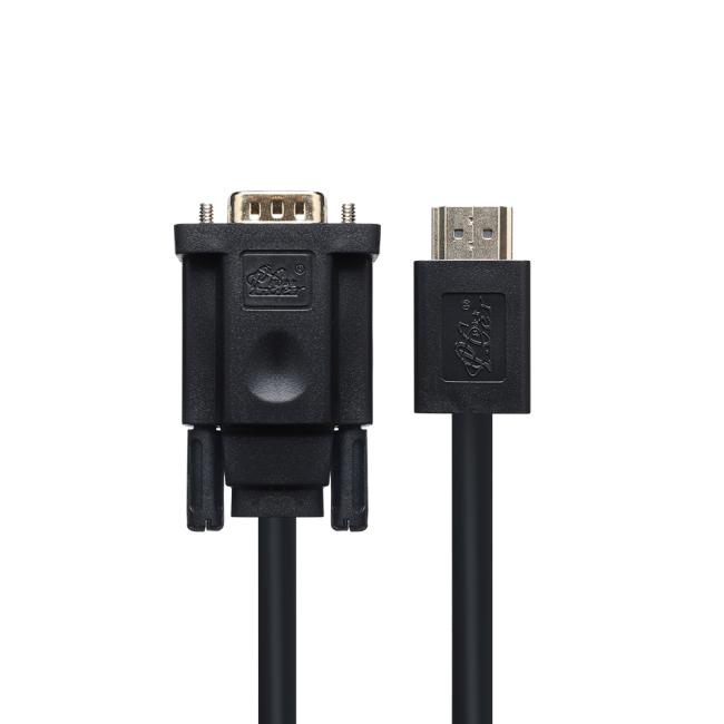 PCER HDMI VGA Cable HDMI male to VGA male cable For PC Monitor HDTV Projector HDMI TO VGA cord