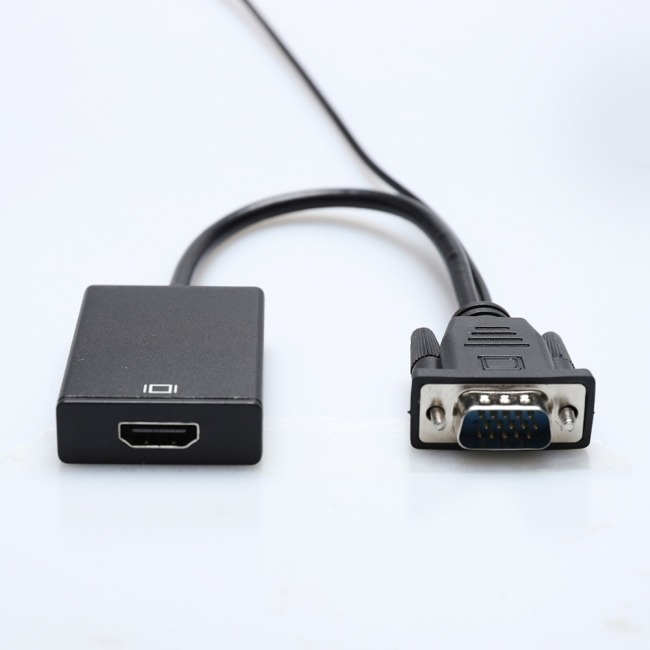VGA to HDMI adapter VGA male to HDMI female VGA HDMI converter extra USB audio cable for Computer Display Screen projector tv
