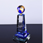 New Wholesale Ball Globe Crystal Glass Awards crystal globe awards crystal craft globe plaque with engraving etched