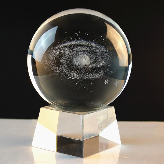 Wholesale black K9 glass crystal ball custom 3d laser engraving crystal ball with LED base