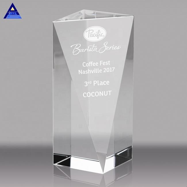 3D Laser Engraving Customized Obelisk Crystal Trophy