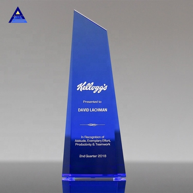 2019 New Design Obelisk Crystal Trophy Souvenir Gifts For Custom Engraving