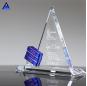 Custom Made Muslim Islamic Crystal Glass Triangle 3D Trophy