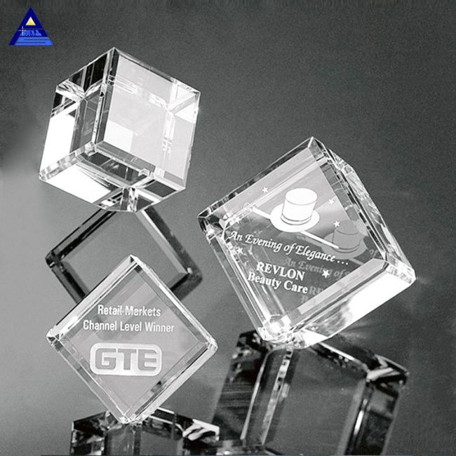 Economy 3D Photo Cube Crystal For Engraving And 3D Laser Printing
