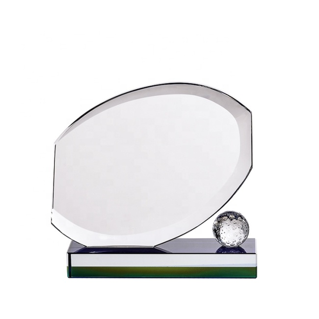 Crystal Awards And Trophies Golf Football Crystal Sports Award For Business Gifts