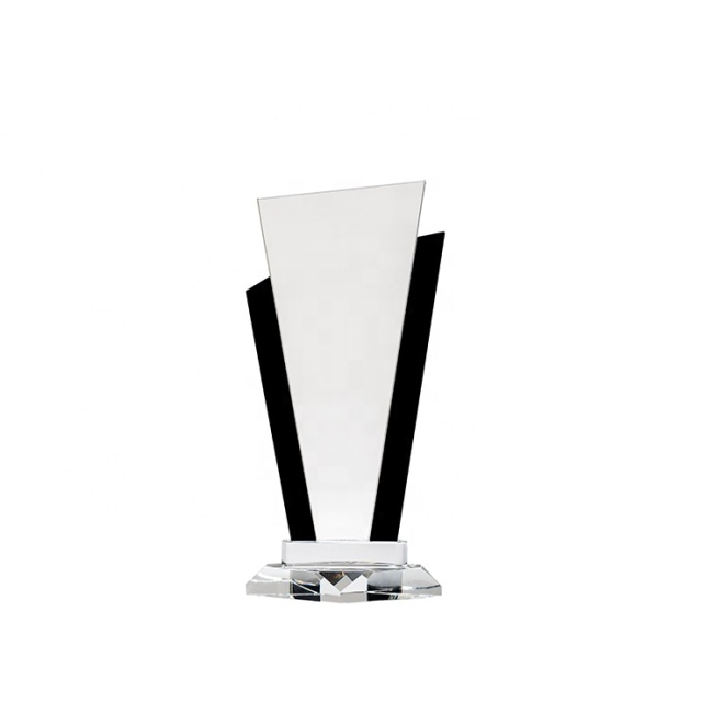 Wholesale Unique Design Cheap Jade Glass Plaques Trophies For Honor Memorial