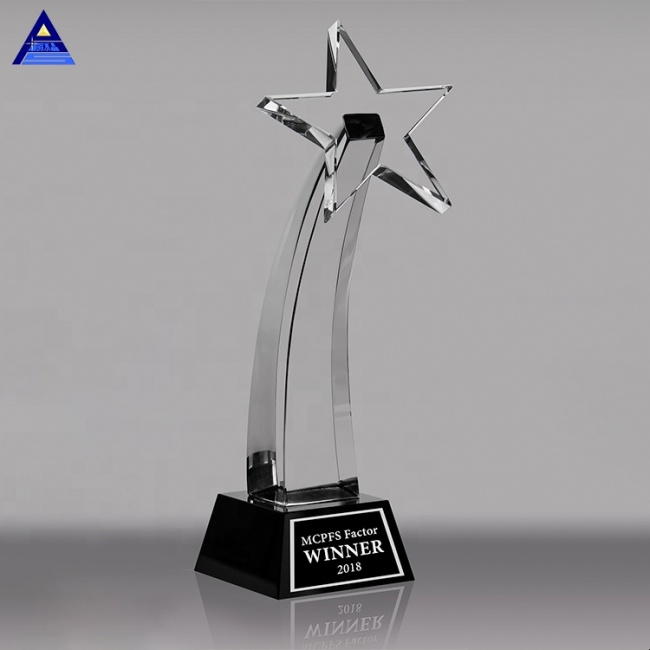 2020 New Design Star Crystal Trophy For School Company Cup