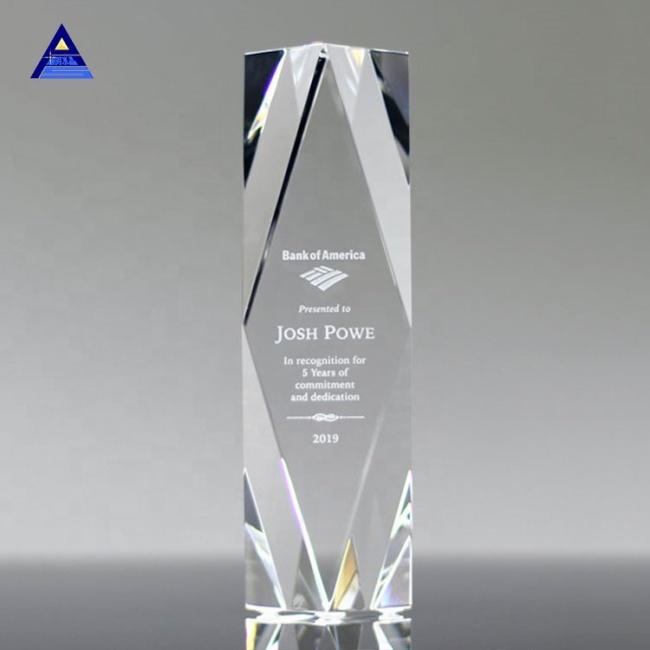 Unique Design Multiple Shapes Large Clear Glass Crystal Obelisk For Business Gift Crystal Crafts