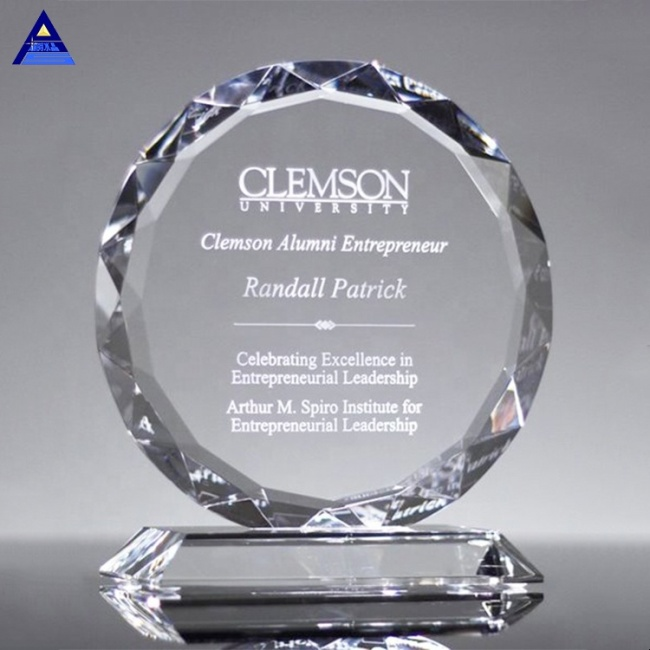 Wholesale Price Crystal Sunflower Plaque Trophy for Corporate Staff