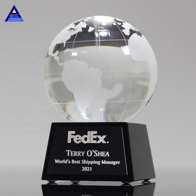 Award Product Type And Europe Crystal Globe,Cheap Crystal World Globe Trophy With World Map
