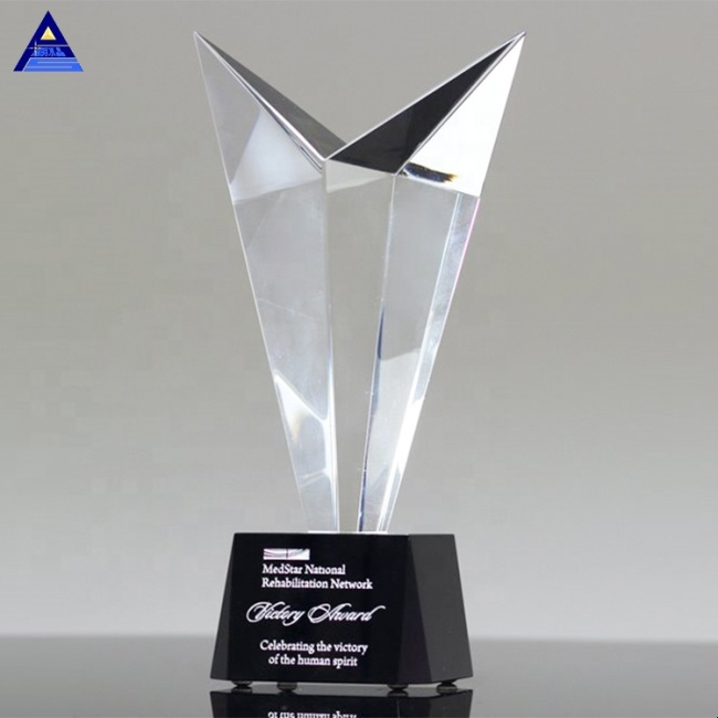 2019 Newest Style Crystal Luxury Crystal Victory Award Tower Trophy