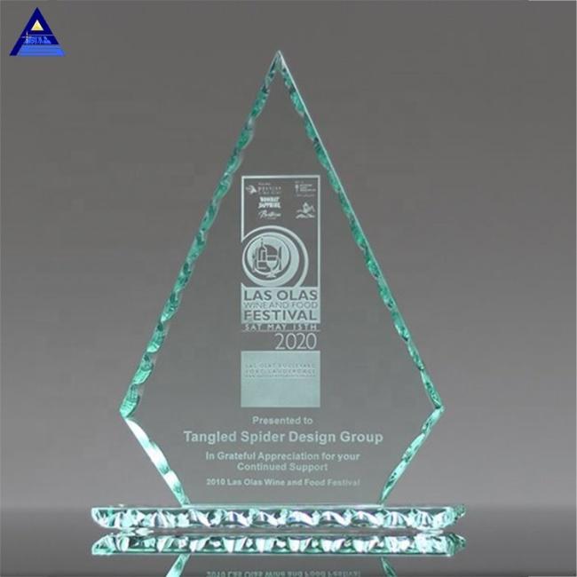 Modern Fashion Design Custom Logo Jade Glass Conquest Award Trophy,Crystal Cup Trophy