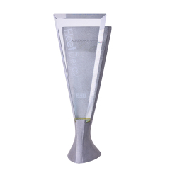 2020 Wholesale Blank Crystal Trophy Award Glass Award 3D Crystal Plaque For Souvenir Gifts