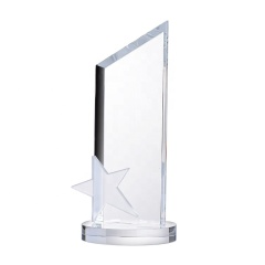 Hot sale Manufacture Blank Crystal Star Awards Trophy for Promotional Souvenirs